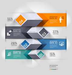 3d business diagram infographics template vector image vector image