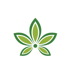 abstract leaf nature eco logo vector image