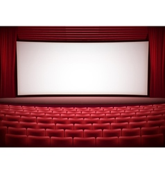 cinema theater vector image vector image