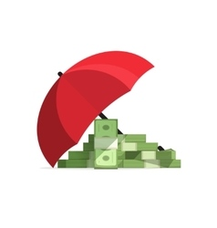 Concept of money protected cash stack protection vector image