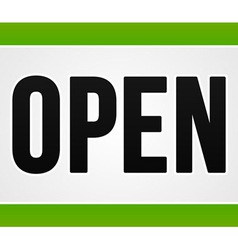 Green Open Sign vector image vector image