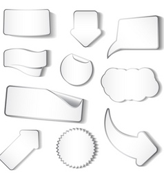stickers tags and labels vector image