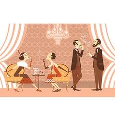 vintage party vector image vector image