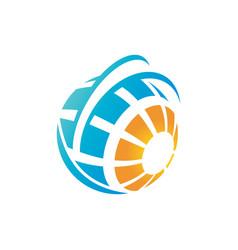 abstract logo concept vector image vector image