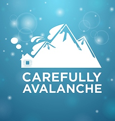 Carefully avalanche on house vector image vector image