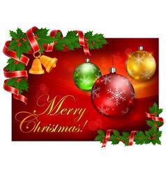 christmas balls color background 10 SS v vector image