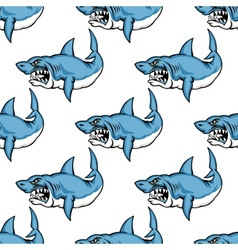 Fierce predatory swimming shark vector image vector image