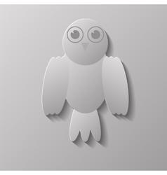 Grey Bird vector image