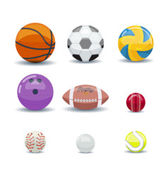 icon set of various games balls vector image vector image