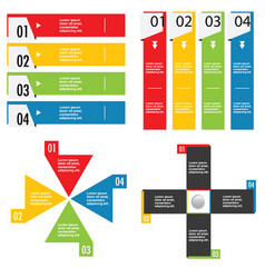 infographic set in color design vector image vector image