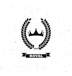 laurel wreath and crown vector image