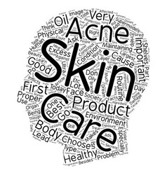 Learn Your Skin Care Facts text background vector image vector image