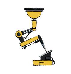robotic arm symbol robot technology control vector image