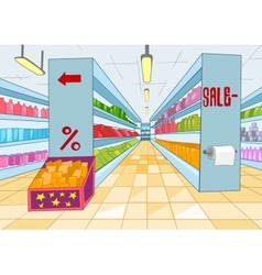 Supermarket Cartoon vector image