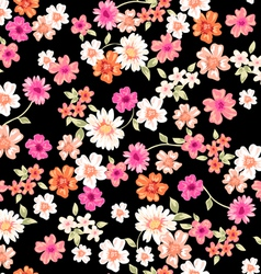 sweet daisy seamless background vector image vector image