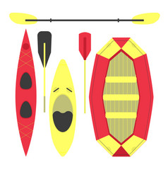 water sports equipment vector image vector image