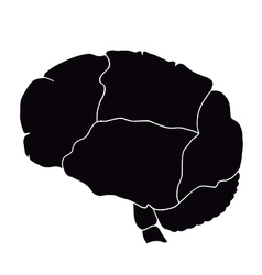 human internal organ - brain vector image