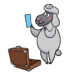 sheep with ticket vector image