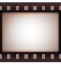 Vintage retro old film strip background vector image vector image