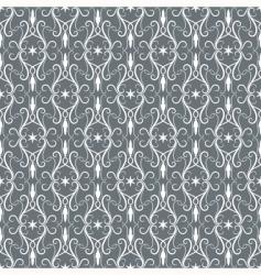 whitegrey vintage seamless pattern vector image