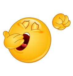yawn emoticon vector image vector image