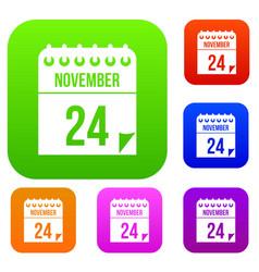 24 november calendar set collection vector image