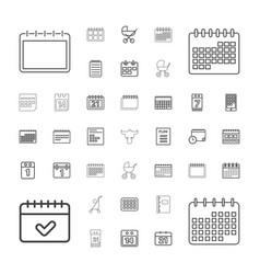 37 calendar icons vector