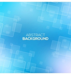 Abstract Blue background with transparent squares vector