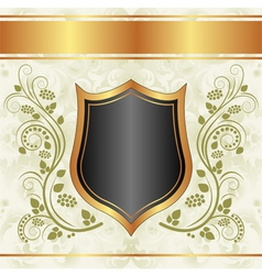 Black creamy gold background vector