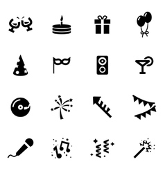 black party icon set vector image