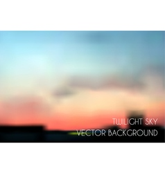 Blurred twilight sky Cityscape vector image
