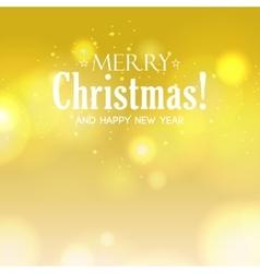 bokeh Merry Christmas background Defocused vector image