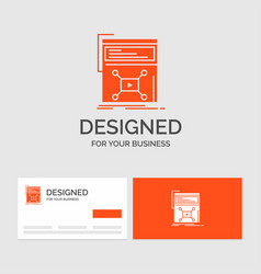 business logo template for marketing page video vector image
