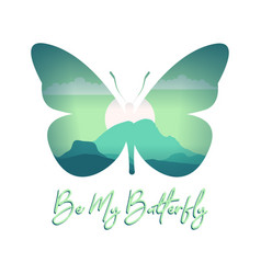 Butterfly quote vector