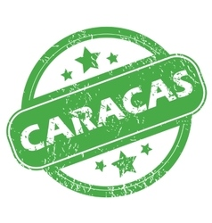 Caracas green stamp vector