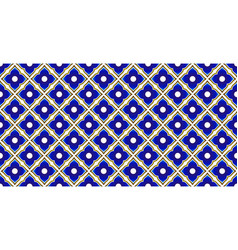 Ceramic thai pattern blue and gold vector