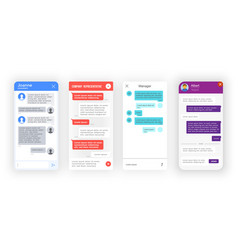 chatbot bot messenger app interface support chat vector image