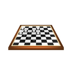 Checkers game in black and white design vector