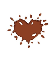 chocolate splash heart vector image