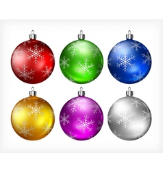 Christmas color balls 10 3 v vector
