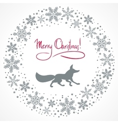 Christmas snow garland background vector