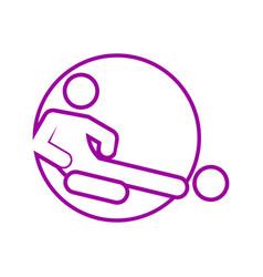 Circle shape sliding tackle football soccer sport vector