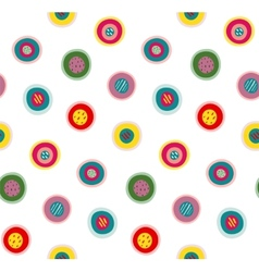 Circles Doodles Abstract Pattern Background vector