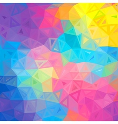 Colorful abstract triangles background vector image