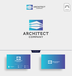 construction architect logo design icon element vector image