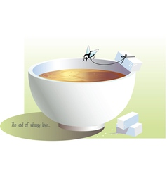 Cup and fly vector