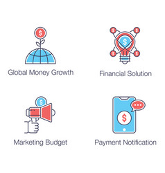 Digital marketing flat icons pack vector