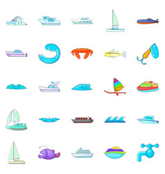 Dip icons set cartoon style vector