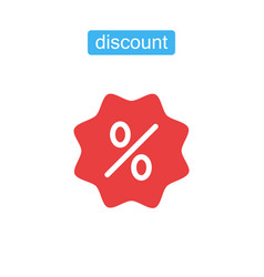 discount icon shopping sale vector image