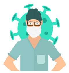 doctor wearing face mask covid-19 vector image